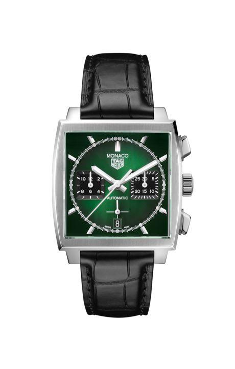Tag Heuer monaco color verde esmeralda CBL2116